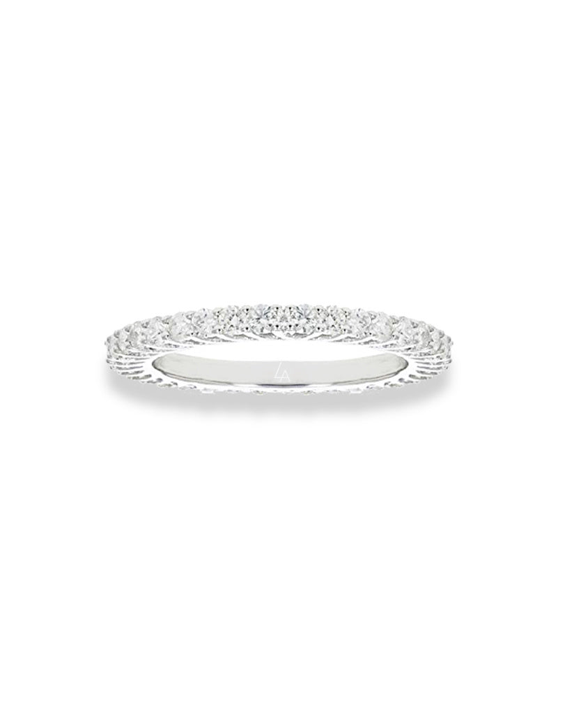 la sisters mini eternity ring zilver