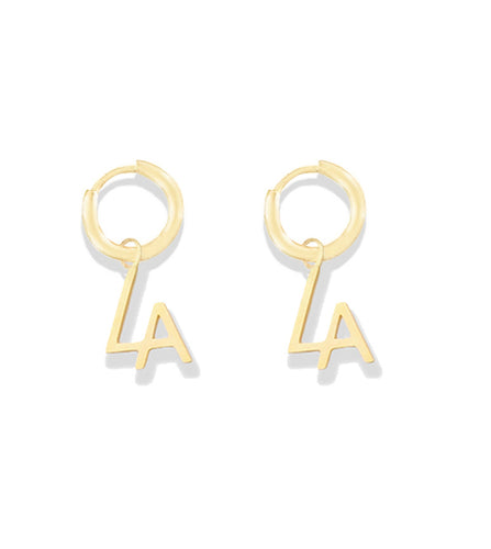 la sisters tiny hoop earrings goud