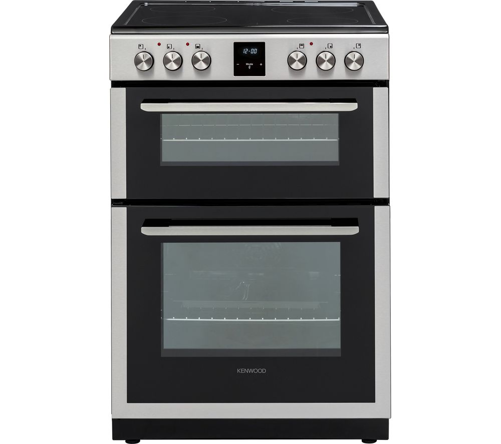 Kenwood - 60 cm Electric Ceramic Cooker - Stainless Steel
