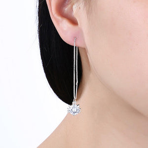 Kitty Cat | Earring 18K White Gold Plated