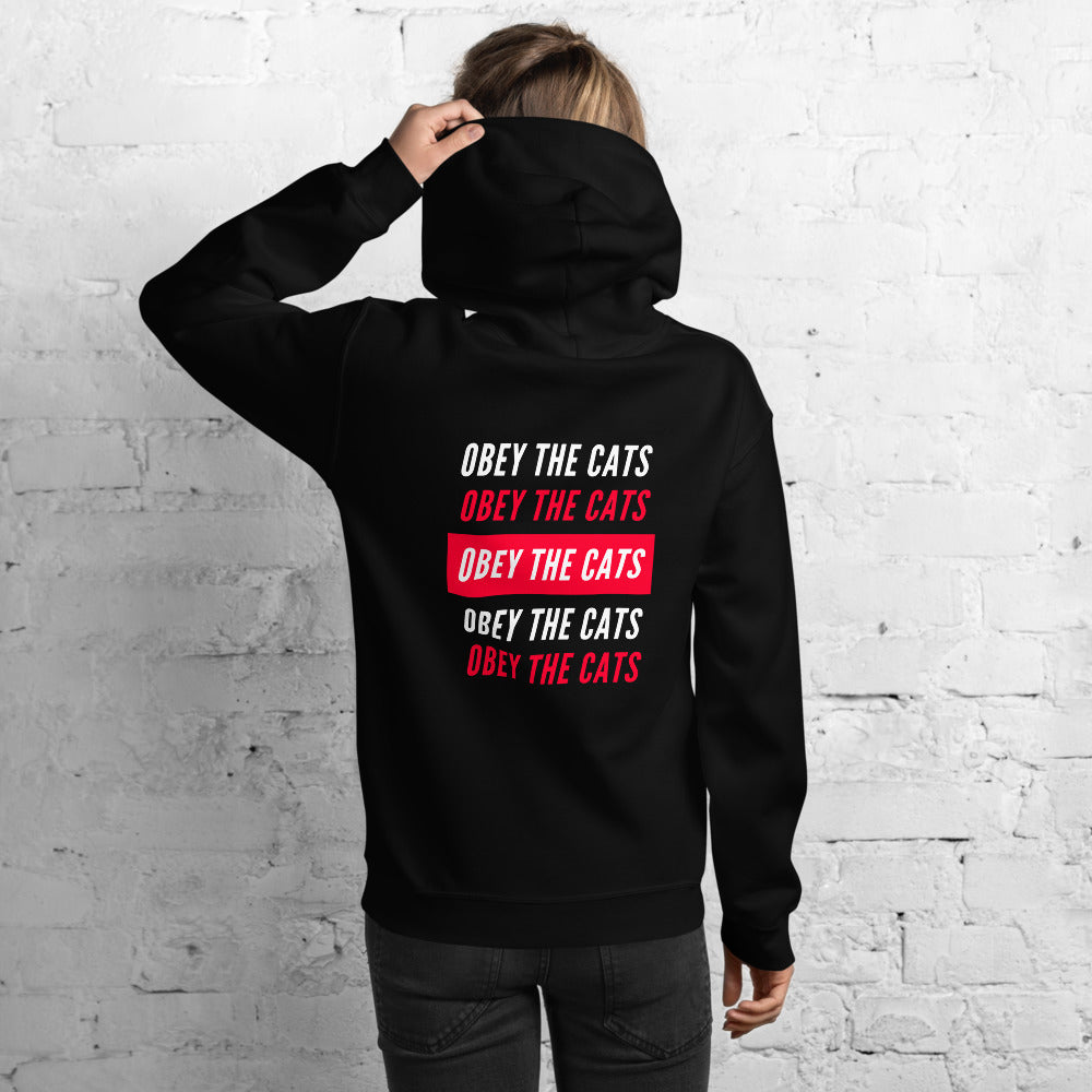 Obey The Cats Red Message | Hoodie