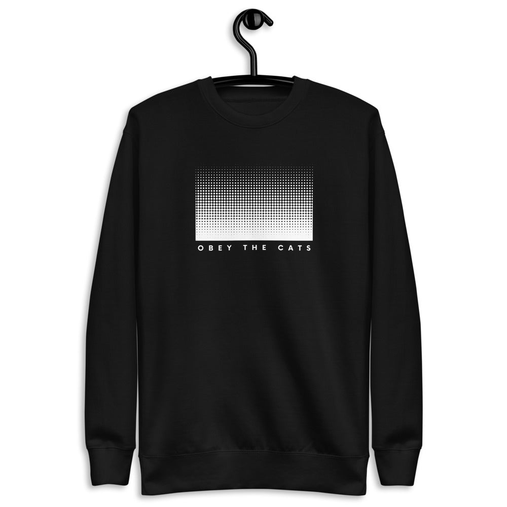 Visual Dotted Obey The Cats | Fleece Pullover