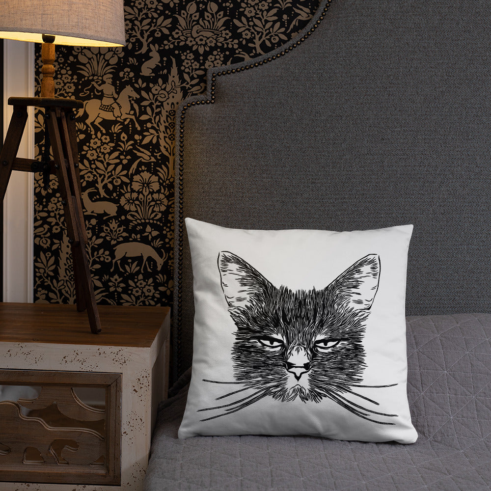 Double-sided Cat | Throw Pillow