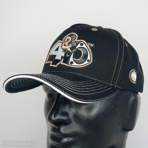 4 & Rotary Black Curved Hat
