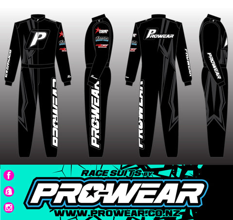 Prowear Single Layer Race Suit - Grey - PRESALE