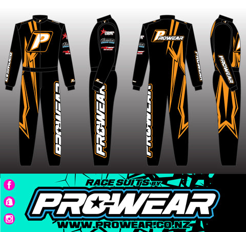 Prowear Single Layer Race Suit - Orange