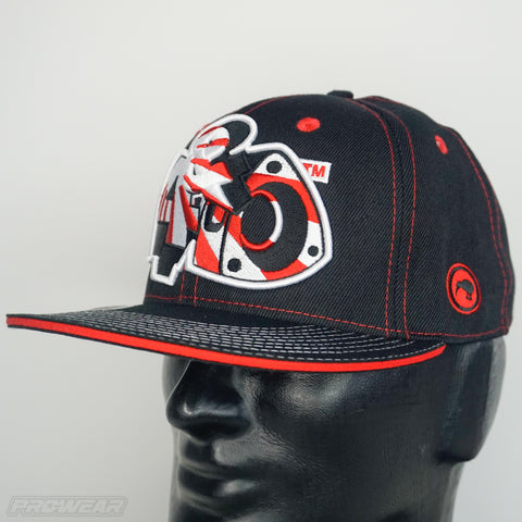 4 & Rotary Rising Sun Red Hat