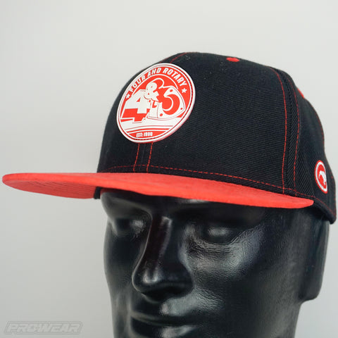 4 & Rotary Red Suede Hat