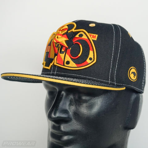 4 & Rotary Rising Sun Gold Hat