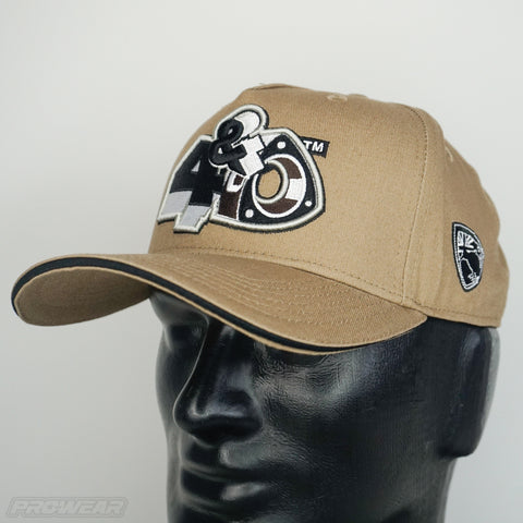 4 & Rotary Tan Curved Hat
