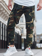 Men's Trousers Camouflage Printed Casual Trousers