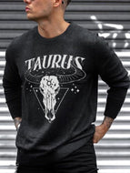 Mens Fashion Casual Constellation Print T-shirt