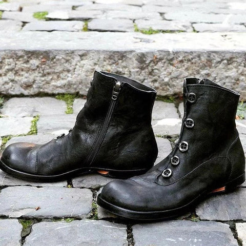 New Fashion Zipper Men's Boots