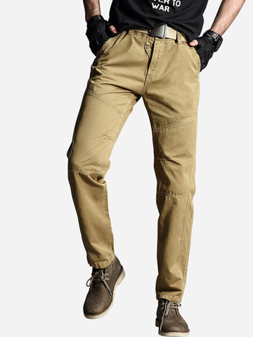 Cotton Straight-leg Casual Pants