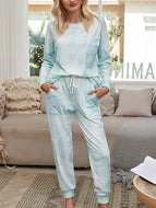 Two-piece Pajamas Long-sleeved Trousers Home Service Suit