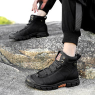 Solid Color Lace Up Snow Boots