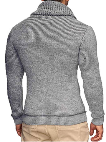 Jacquard Long Sleeve Knit Sweater