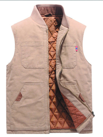 Cotton Multi-pocket Casual Vest