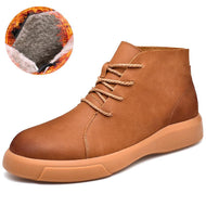 Autumn Winter New Breathable Leather Men's Boots