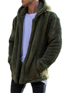 Long Sleeve Solid Color Hooded Cardigan Men's Jacket