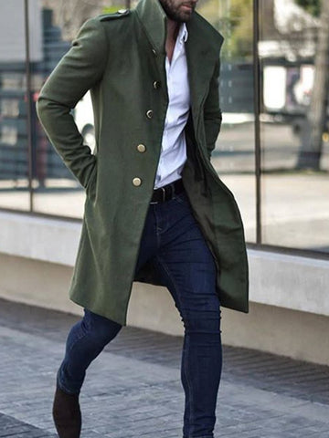 Pure Color Slim Casual Jacket