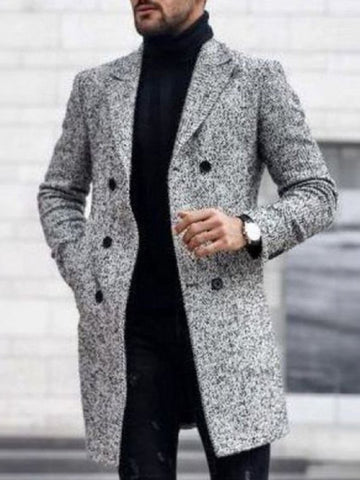 Casual Style Double-breasted Tailored Heavy Coat