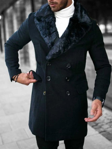 Bonucci Black Fur Coat