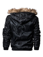 Men's Stitching Hooded Plus Velvet Thick Casual Jacket