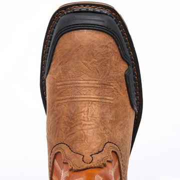 Patchwork Embroidered Men's Boots