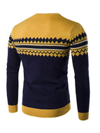Men's Long-sleeved Pullover Round Neck Knitted Sweater