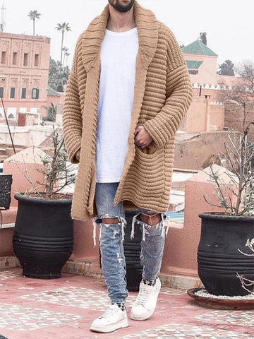 Fashion Mid-length Long-sleeved Cardigan Sweater