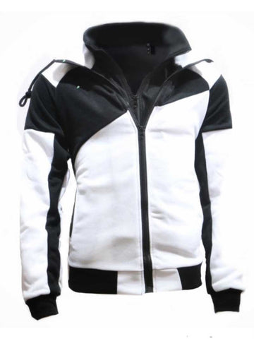 Fake Two Pieces of Contrast Stitching Casual Sports Hood