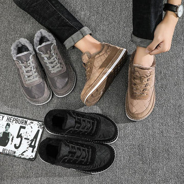 Down Warm Flat Casual Board Shoes