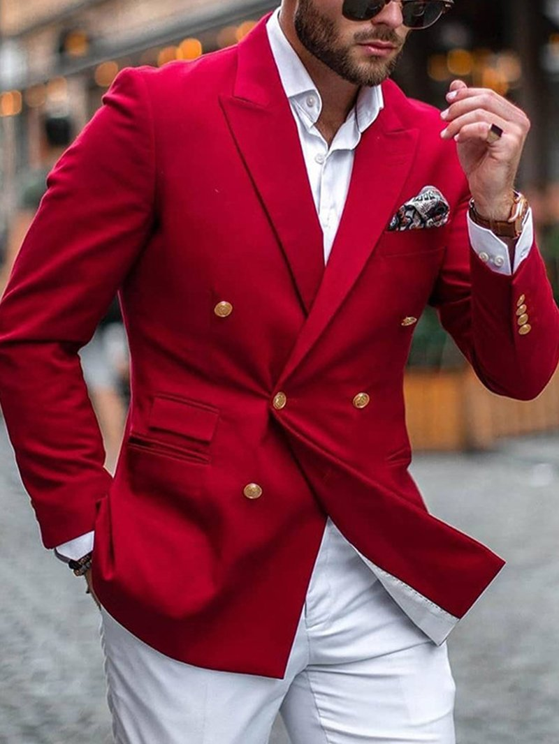 Solid Color Business Suit Jacket
