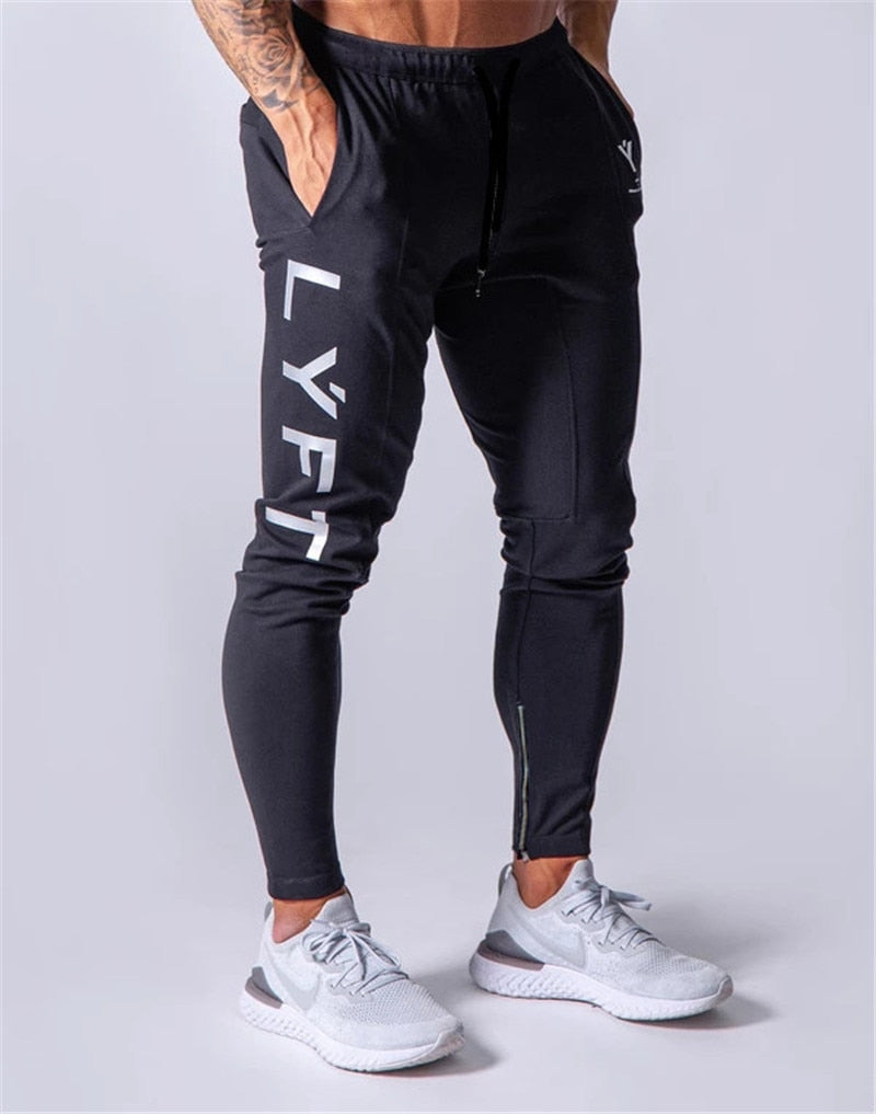 New Jogging Pants Men Sport Sweatpants Running Pants GYM Pants Men Joggers Cotton Trackpants Slim Fit Pants Bodybuilding Trouser