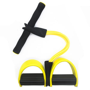 4 Tubes Resistance Bands Fitness Elastic Sit Up Pull Rope Exerciser Rower Belly Elastic Bands Home Gym Sports Training Equipment