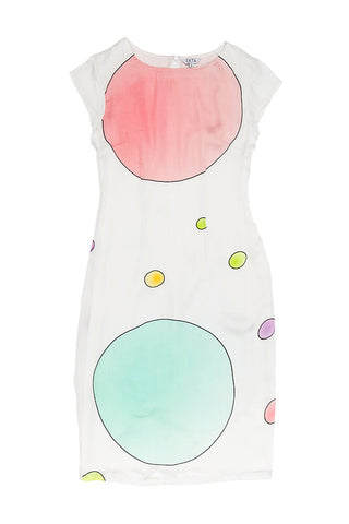 Circles Digital Dress - White