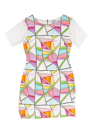 Geometrics Digital Print Dress - Style 02