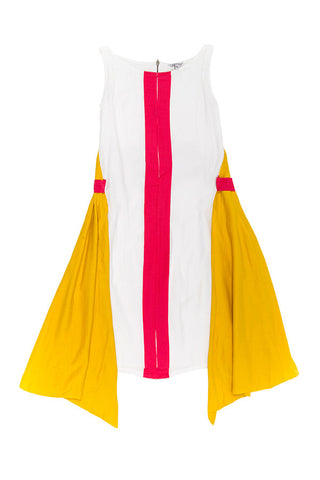 Sunset Umbrella Dress - Yellow