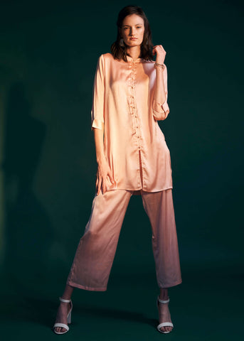 Dreamy Lounge Palazzo Trousers- Soft Pink