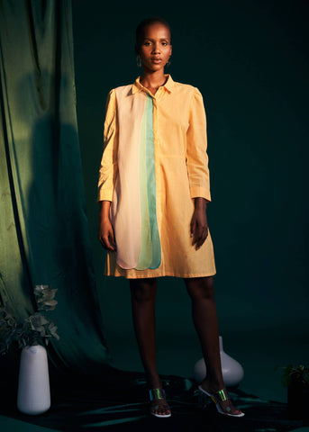 Layered Stories Shirt Dress- Golden Sunset