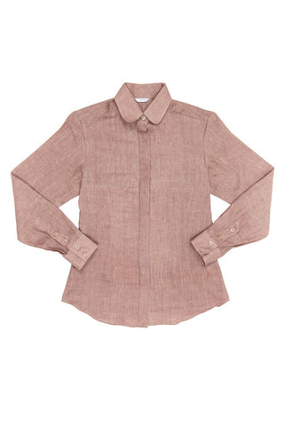 Linen Shirt - Rose Gold