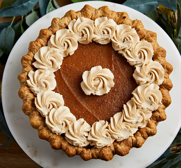 Traditional Pumpkin Pie with Chai Whipped Cream
