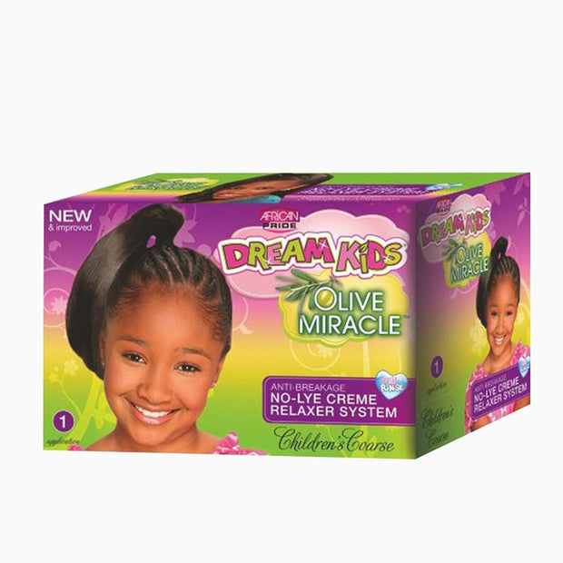 African Pride Dream Kids No-Lye Creme Relaxer System Kit - Super