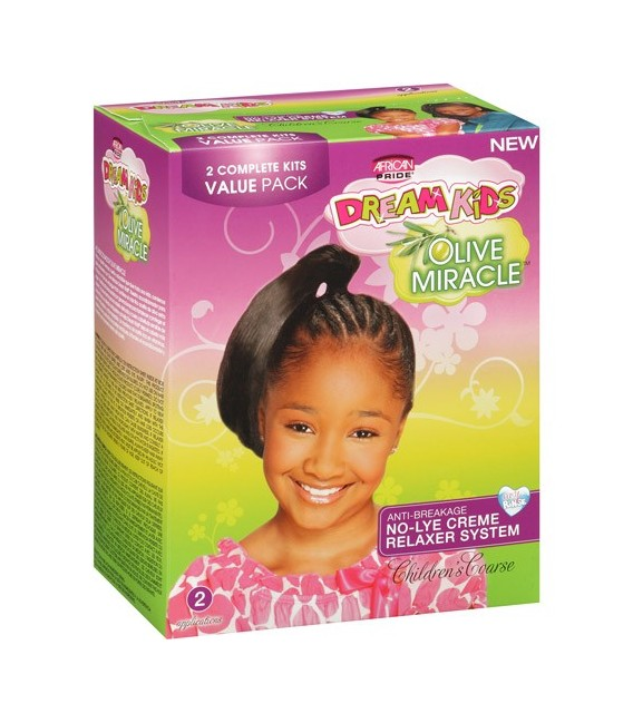 African Pride Dream Kids No-Lye Creme Relaxer System Kit App – Super  1/ 4 Touch-Up