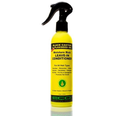 ECO BLACK CASTOR & FLAXSEED OIL LEAVE-IN CONDITIONER 8 OZ