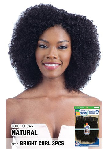 MODEL MODEL Nude Fresh Wet & Wavy 100% Human Weave Hair 3PCS - BRIGHT CURL