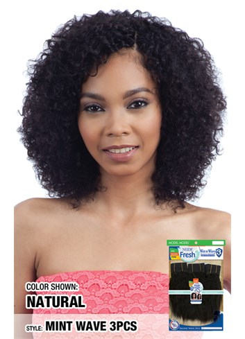 MODEL MODEL Nude Fresh Wet & Wavy 100% Human Weave Hair 3PCS - MINT WAVE