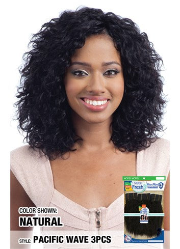 MODEL MODEL Nude Fresh Wet & Wavy 100% Human Weave Hair 3PCS - PACIFIC WAVE
