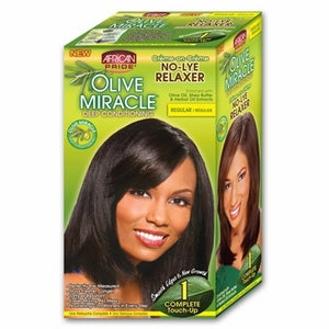 African Pride Olive Miracle No-Lye Relaxer 1 Complete Touch-up Regular